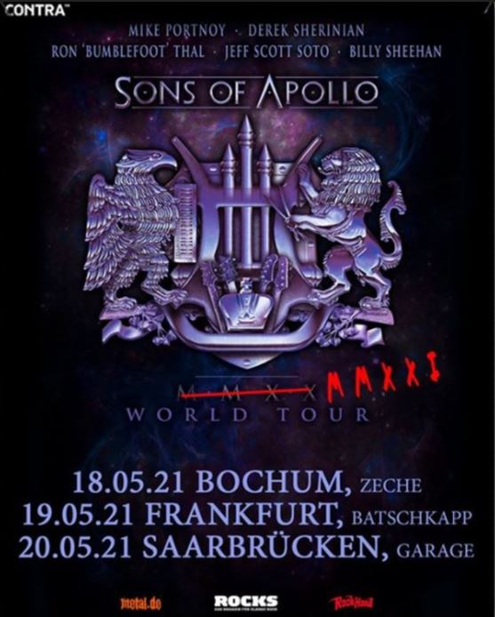 Sons Of Apollo - abgesagt